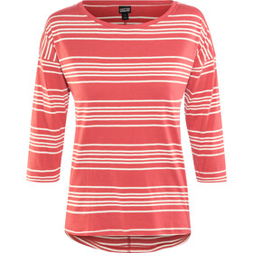 Patagonia Shallow Seas t-shirt Dames, lightning stripe: static red